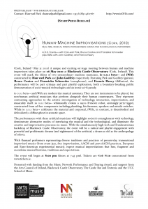 Human-Machine Improvisations (Cork, 2010) press release [click to download PDF…]
